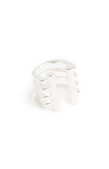 Caged Double Bar Ring Slide 1