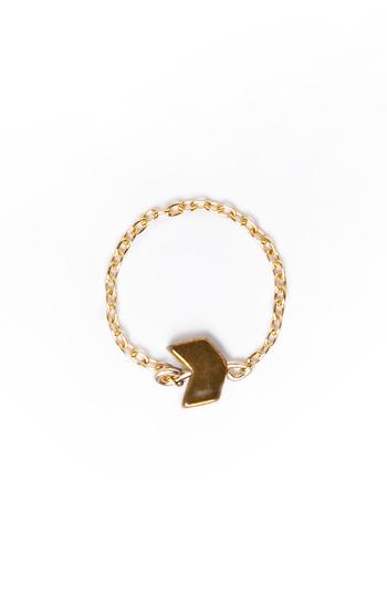 Sandy Hyun 14k Delicate Chain Ring Slide 1