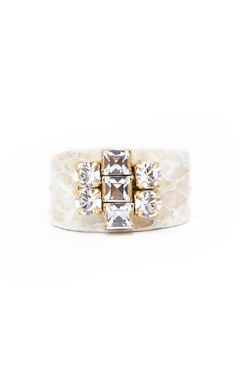 Sandy Hyun 22k Reptile Crystal Ring Slide 1