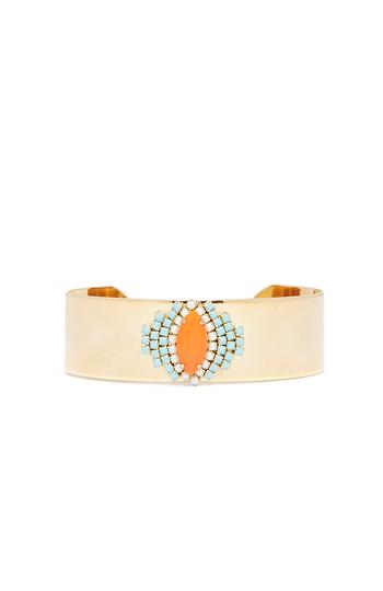 Sandy Hyun crystal Lucite Bracelet Slide 1