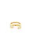 Double Band Midi Ring Thumb 4