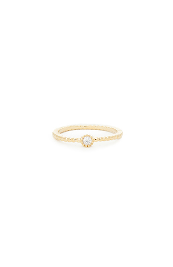 Solitaire Textured Midi Ring Slide 1