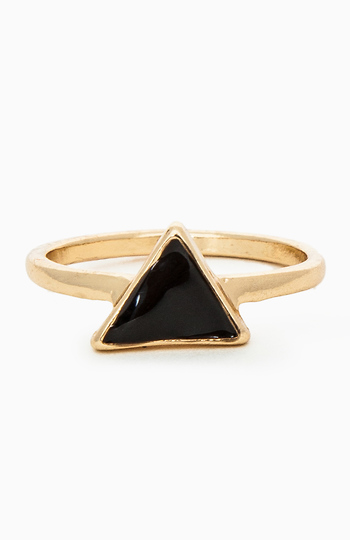 Black Abyss Triangle Ring Slide 1