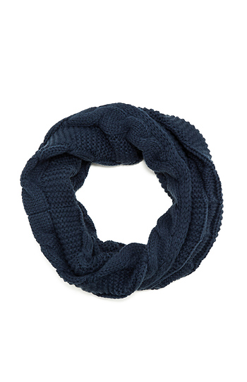 Chunky Cable Knit Infinity Scarf Slide 1