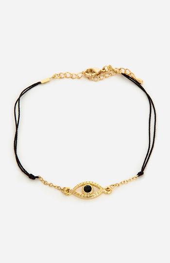 Threaded Evil Eye Bracelet Slide 1