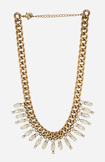 DAILYLOOK Antiqued Crystal Chain Necklace Slide 1