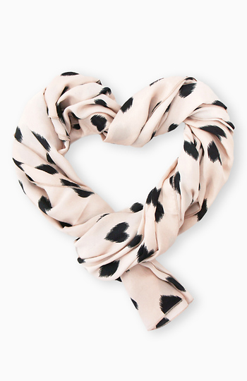 Repeat Hearts Scarf Slide 1