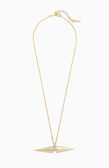 Double Edge Spike Necklace Slide 1