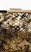 Metallic Snake Print Clutch Thumb 3