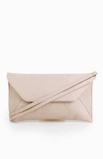 Snake Skin Envelope Clutch Slide 1