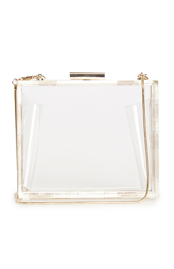 Mini Lucite Box Clutch Slide 1