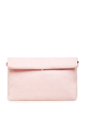 Maya Vegan Leather Large Fold Over Clutch Slide 1