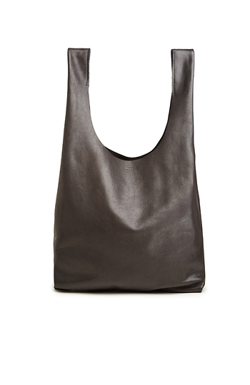 BAGGU Slouchy Leather Tote Slide 1