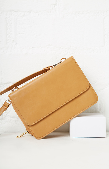 Vegan Leather Structured Crossbody Purse Slide 1