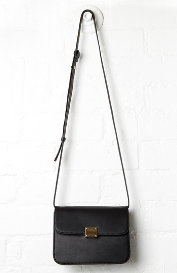 DAILYLOOK Kettler Vegan Leather Square Shoulder Bag Slide 1