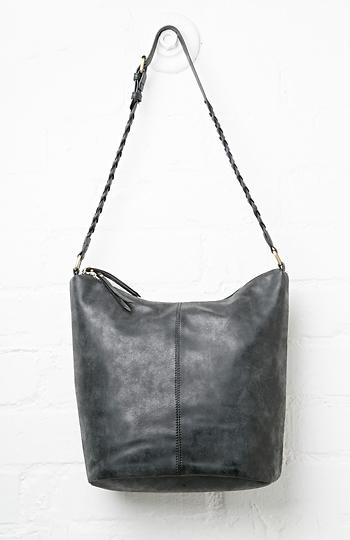 The Solange Faux Suede Braided Everyday Shoulder Bag Slide 1