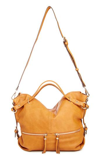 Sadler Vegan Leather Shoulder Bag Slide 1