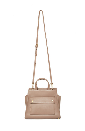 Flynn Bailey 100% Leather Small Handle Structured Crossbody Slide 1