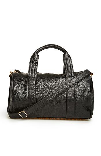 Stud Base Vegan Leather Duffel Bag Slide 1