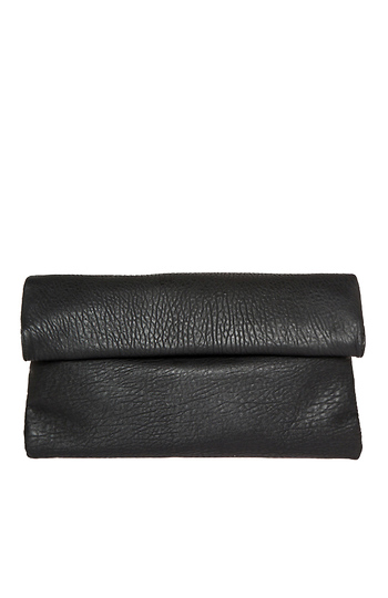 Langston Vegan Leather Double Fold Over Clutch Slide 1