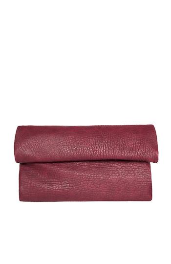 Langston Vegan Leather Double Fold Over Clutch Slide 1