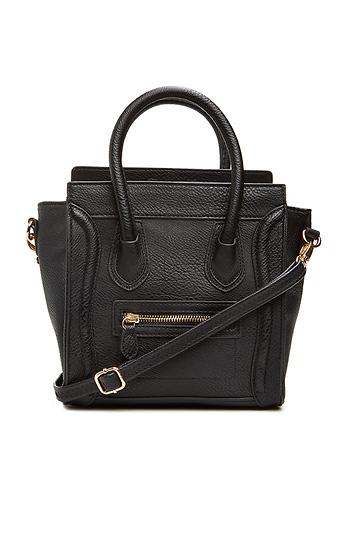DAILYLOOK Mini Structured Handbag Slide 1