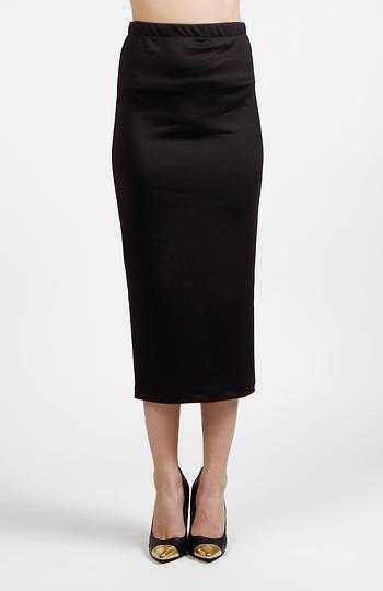 Midi Back Slit Skirt Slide 1