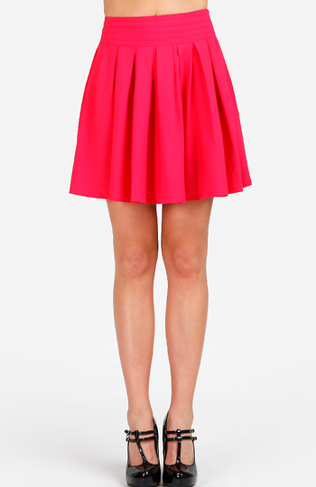 Bright Pleated Circle Skirt Slide 1