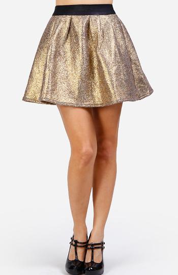 Metallic Tweed Mini Skirt Slide 1