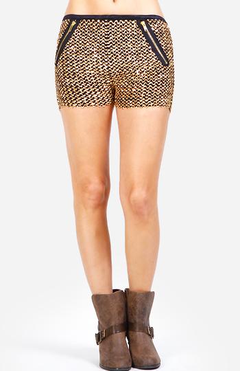 Full Moon Sequin Shorts Slide 1