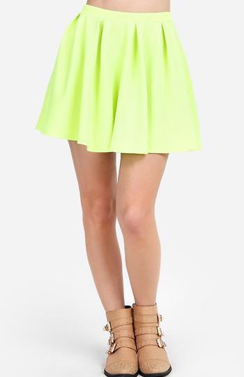 Pleated Circle Skirt Slide 1