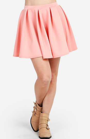 Pleated Circle Skirt Slide 1