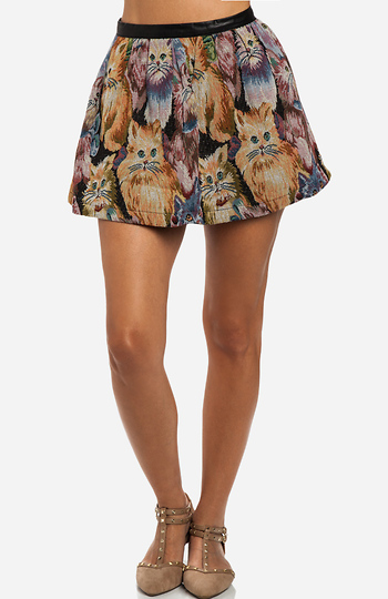 Cats Tapestry Skirt Slide 1