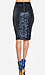 Sequined Pencil Skirt Thumb 2