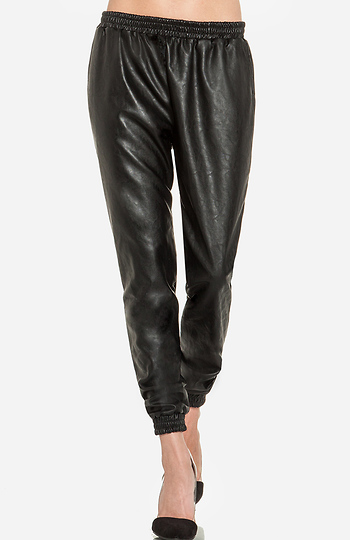 Lucca Couture Leatherette Track Pants Slide 1