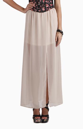 Long Sheer High Slit Skirt Slide 1