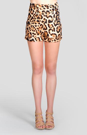 Leopard Print Sailor Shorts Slide 1