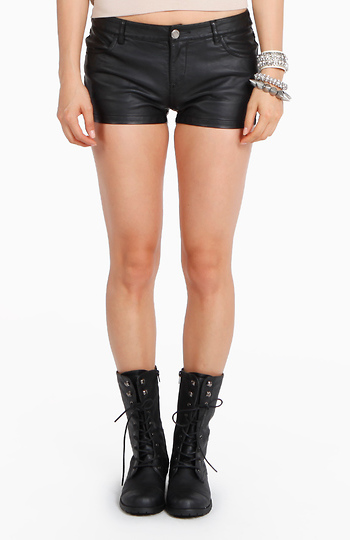 Love Me In Leather Shorts Slide 1
