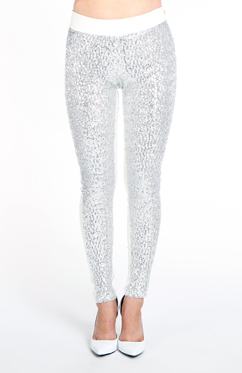 Sequin Front Skinny Pants Slide 1