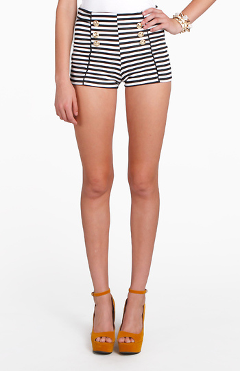 Striped Hot Pants Slide 1