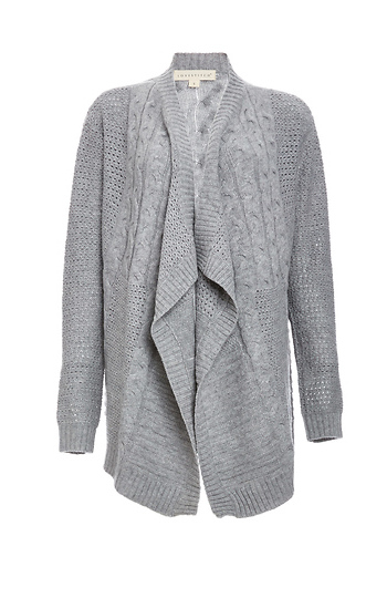Simone Lightweight Cable Knit Cardigan Slide 1