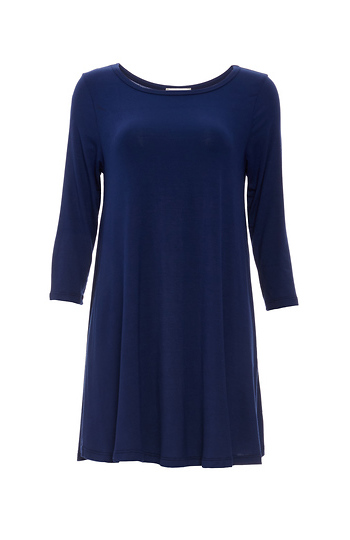 3/4 Sleeve Trapeze Dress Slide 1