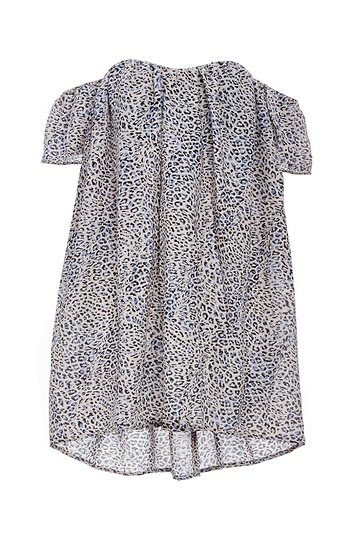 Olivaceous Strapless Leopard Print Woven Top Slide 1