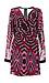 Adelyn Rae T-Back Printed Chiffon Dress Thumb 1