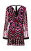 Adelyn Rae T-Back Printed Chiffon Dress Thumb 2