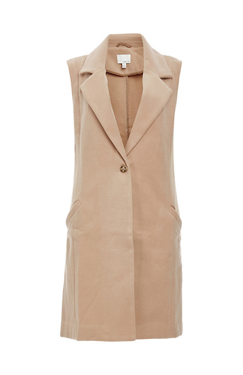 Greylin Hannah Single Button Wool Vest Slide 1