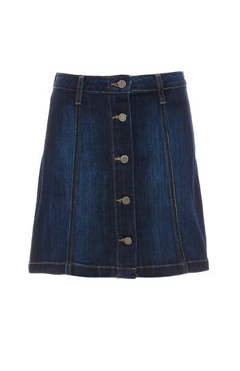 Just Black Stephanie Buttoned Denim Skirt Slide 1