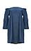 Jonesy Off Shoulder Chambray Dress with Pockets Thumb 1