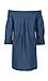 Jonesy Off Shoulder Chambray Dress with Pockets Thumb 2
