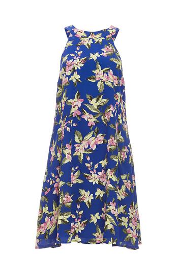 Paradise Wild Flower Mock Neck Dress Slide 1